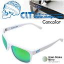 CLT Concolor コンコロール ホワイト/グリーンスモークグリーンミラー (サングラス 偏光グラス)