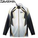 ダイワ トーナメント ドライフルジップ メッシュシャツ DE-73008 ホワイト M〜XL (フィ...