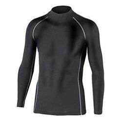 [おたふく手袋]防寒下着BTパワーストレッチハイネックシャツブラックJW-170あったか