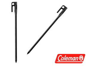 【コールマン】スチールソリッドペグ30cmブラック1pc