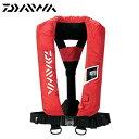 【ダイワ】ウォッシャブル ライフジャケット (肩掛けタイプ手動・自動膨張式) [ DF-2005 ] レッド フリーサイズ