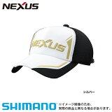 【シマノ】ネクサス ベーシック ハーフメッシュキャップ [ CA-142P ] シルバー フリーサイズ