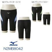 ミズノ MIZUNO 競泳水着 メンズ ハーフスパッツ Stream Aqutiva ストリームフィット2 公式大会使用不可 マスターズ向き 2018年春夏モデル 男性用 N2MB8042-HK