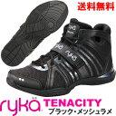 [RYKA]ライカ フィットネス TENACITY 〔ブラック・メッシュラメ〕 C8149M-E008(22.0〜28.0cm/レディース/メンズ)<テナシティー>【..
