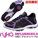 [RYKA]ライカ フィットネスシューズ INFLUENCE2.5<インフルエンス2.5> E5060M-1001〔ブラック〕(22.0〜28.0cm/レディー...