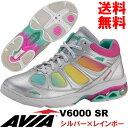 [AVIA]アビア フィットネスシューズ V6000 SR〔シルバー×レインボー〕(22.5〜26.0cm/レディース/メンズ)【17SS03】【アヴィア正規品】/送料無料