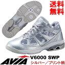 [AVIA]アビア フィットネスシューズ V6000 SWP〔シルバー/プリント柄メッシュ〕(22.0〜28.0cm/レディース/メンズ)【16FW09】【アヴ...