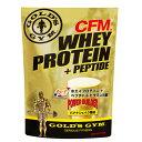 CFMホエイプロテイン+ペプチド バナナシェイク風味(900g) GOLD 039 S GYM_S ゴールドジムサプリ