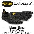 [vibram fivefingers] ビブラムファイブフィンガーズ Men's Signa(シグナ)〔Black/Yellow〕(メンズ)【ウォータースポーツ、水辺】/送料無料