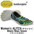 [vibram fivefingers] ビブラムファイブフィンガーズ Women's ALITZA(アリッツャ) Black/Blue/Green(レディース)/送料無料 『筋労感謝の日キャンペーン』