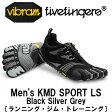 [vibram fivefingers] ビブラムファイブフィンガーズ Men's KMD SPORT LS Black Silver Grey(メンズ)/送料無料