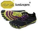 Women's V-Run ラン Black/Yellow/Purple レディース [vibram fivefingers ビブラムファイブフィンガーズ]