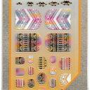 【送料無料】ラコララン ネイルメイク 75 ネイティブシャーベット 爪型ネイルシール 夏カラー 夏ネイル ペディキュア