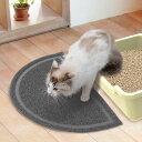 ショッピングトイレマット ペティオ (Petio) ネココ 猫トイレマット グレー 砂取りマット 砂落とし