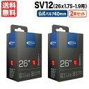 あす楽 送料無料 2本セット SV12 650x35B 仏式 バルブ長40mm 26インチx1.75-1.9インチ用 返品保証 自転車 チューブ シュワルベ SCHWALB..