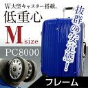 スーツケース【送料無料・保証付・低重心Wキャスター】TSAロック・清潔空間・インナーフラットタイプ。中型4〜7日用スーツケース。人気。旅行かばん。ハード。キャリーケース。バッグ。バック