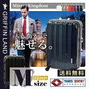 ミラーKingdom【TSAロック搭載】一年保証付&送料無料。清潔空間・消臭、抗菌仕様プロテクトフラットタイプ。中型4〜7日用スーツケース。旅行かばん。キャリーケース。M(22)サイズハードケース フ