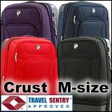 TSA搭載ハーフソフトキャリースーツケース中型【1年間保証付!・】清潔空間・消臭、抗菌仕様旅行かばん。ハード。キャリーケース。バッグ。Mサイズ。