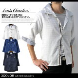 LOUISCHAVLON★7分袖デッキシャツジャケットメンズヨットシャツ【A9Z】