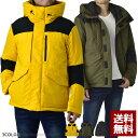 中綿ジャケット メンズ ブルゾン アウター フード でかポケット ポリリップル 厚手 防寒【C4K】
