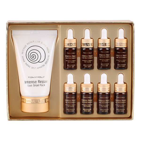 Intense Care snail ampoule & pack intense care live snail (snail) ampoules & Pack special set Korea cosmetics / Korea cosmetics and Korean COS /BB cream /bb