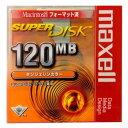 【激レア!】マクセル SuperDisk(スーパーディスク)タンジェリンカラー 1枚 MACフォーマット SD120.MAC.OR.B1P