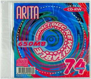 【ARITA】データ用CD-RW 650MB 1枚入 ARITA CD-RW74 SLIM 1P*