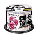 【お取り寄せ】三菱化学メディア 700MB記録CD-R 50枚 プリンタブル SR80PP50