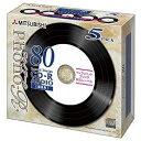 三菱 700MB CD-R(Audio) 録音時間80分 1枚10mm厚ジュエルケース(透明) 5P インクジェットプリンタ対応(ホワイト) Phono-Rシリーズ MUR80PHW5