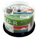 HIDISC データ用 CD-R 700MB 50枚スピンドル 52倍速 ワイドプリンタブル HDCR80GP50