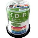 HIDISC CD-R 700MB 100枚入り スピンドルケース 52倍速対応 ワイドプリンタブル HDCR80GP100