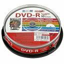 HI DISC CPRM対応 録画用DVD-R 16倍速対応 10枚 ワイド印刷対応 HDDR12JCP10 地デジ録画に最適!