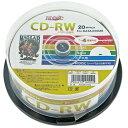 楽天フラッシュストア【新商品】HIDISC データ用 CD-RW 4倍速 20枚入 スピンドル HDCRW74YP20