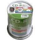HIDISC データ用 CD-R 700MB 52倍速 100枚 スピンドルケース ワイドプリンタブル HDCR80GP100