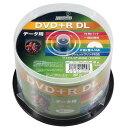 HIDISC データ用 DVD+R DL 片面2層 8.5GB 50枚 8倍速対応 インクジェットプリンター対応 HDD+R85HP50