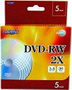 【売り切り御免!☆在庫限り】【返品交換不可】MR.DATA 8cm アナログ録画用DVD-RW 30min/1.4GB、2倍速 5枚_Outlet