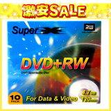 数据DVD   RW10双视频卡超三十的DVD   RW4.7 SLIM10P[【返品交換不可】SuperX アナログ 録画用 DVD+RW 10枚 等倍速 DVD+RW4.7 SLIM10POutlet]