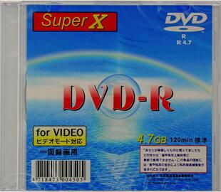 【返品交換不可】SuperX アナログ録画用 DVD-R 1枚 DVD-R120 1X SLIM 1P_Outlet
