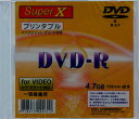 �����ʸ��Բġ�SuperX ���ʥ�Ͽ����DVD-R �������åȥץ���б���1�� DVD-R120 1X PW SLIM 1P_Outlet