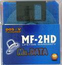 【MR.DATA】2HD フロッピーディスクWindows DOS/Vフォーマット済 10枚入 MF-2HD DOS/V MIX 10P(J)