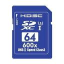 【アウトレット】HIDISC SDXCカード 64GB CLASS10 UHS-1 U3対応【メール便OK】