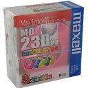 【生産終了品・在庫限り】マクセル 3.5インチ MOディスク 230MB 5枚 Machintoshフォーマット済み MA-M230CC MAC 5P