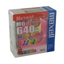 【生産終了品・在庫限り】マクセル 3.5型 MOディスク 640MB 5枚 Machintoshフォーマット済み MA-M640CC MAC 5P