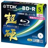 TDK Ͽ���ѥ֥롼�쥤�ǥ����� Ķ�ť���� BD-R 25GB 1-6��® �ۥ磻�ȥ磻�ɥץ�֥� 5��ѥå� 5mm����ॱ���� BRV25HCPWC5A