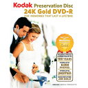 【数量限定】 Kodak 純金ゴールド DVD-R 1枚 大切なデータを100年保存! 特別な日の思い出に!出産やご結婚、お誕生日などのイベントに♪ Preservation Disc Gold Movie 1P