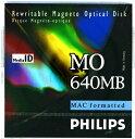 フィリップス 3.5インチ MOディスク (光磁気ディスク) 640MB MACフォーマット済  PHILIPS 34P-M(640MB MAC)