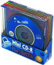 MR.DATA 8cm CD-R データ用 185MB (21分) カラ—MIX 5枚 5mmスリムケース入り Mini CD-R21(MIX) 1PX5