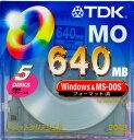 【生産終了品・在庫限り!】TDK 3.5インチ MOディスク 640MB Windows/MS-DOSフォーマット済 5枚パック MO-R640DX5PA