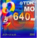 【生産中止商品】【レアアイテム】TDKのMO(640MB)5枚セット!(カラーMIX)MO-R640X5PMA
