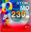 【生産終了品・在庫限り!】TDK 3.5インチ MOディスク 230MB 5枚パック MO-R230X5PMA